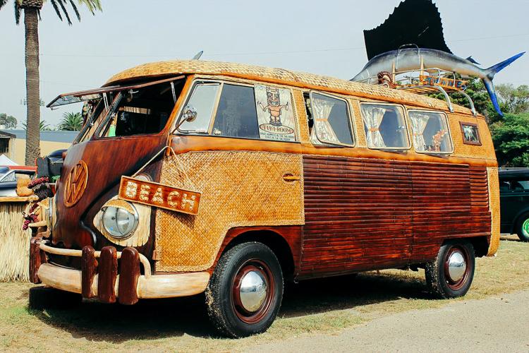 mit dem VW bus an den strand