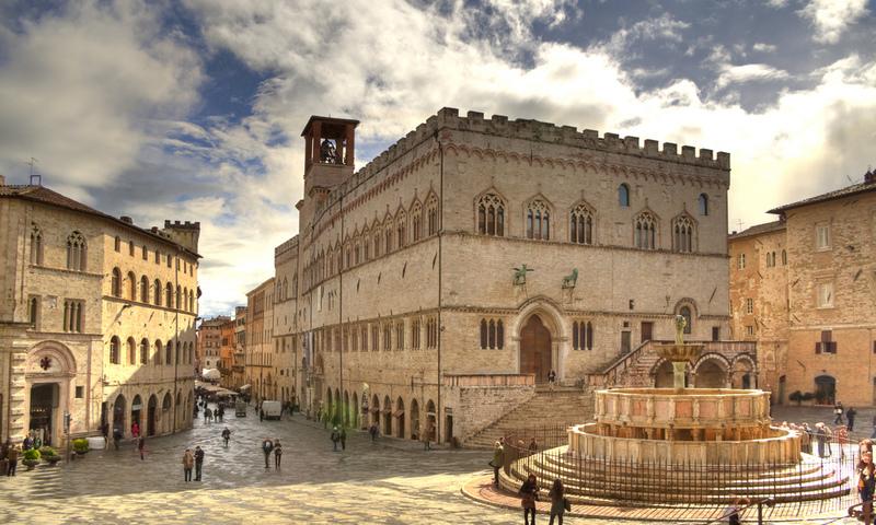Perugia Italia Piazza IV Settembre