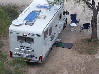 Adriatik 680 SP Coral – TE HUUR.Leuke camper met GROTE garage en fietsenrek.
