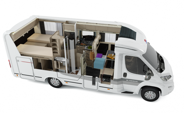 New, luxurious and comfortable semi-integrated motorhome (automatic)
