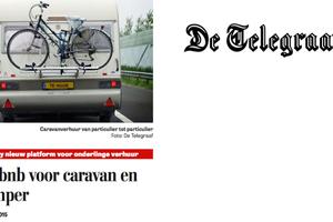 """In de media, Telegraaf: """"Airbnb voor caravan en camper"""""""