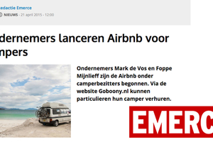 "In de media, Emerce: ""Ondernemers lanceren Airbnb voor campers"""