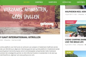 "In de media, Campingtrend: ""GOBOONY GAAT INTERNATIONAAL UITROLLEN"""