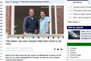 """In de media, NU.nl: """"Goboony: Het delen van een camper blijkt een schot in de roos"""""""