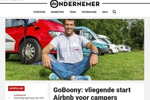 In de media, GOBOONY: VLIEGENDE START AIRBNB VOOR CAMPERS