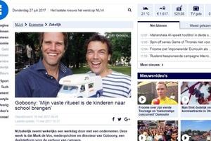 In de media, Nu.nl:'Mijn vaste ritueel is de kinderen naar school brengen'